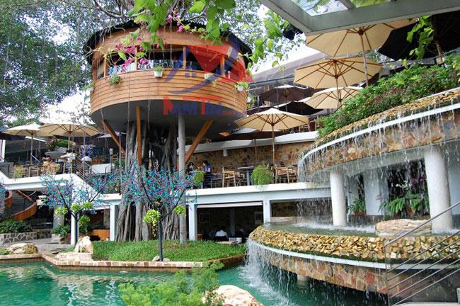 trang trí quán cà phê sân vườn 26