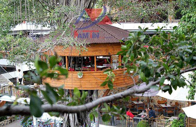 trang trí quán cà phê sân vườn 27